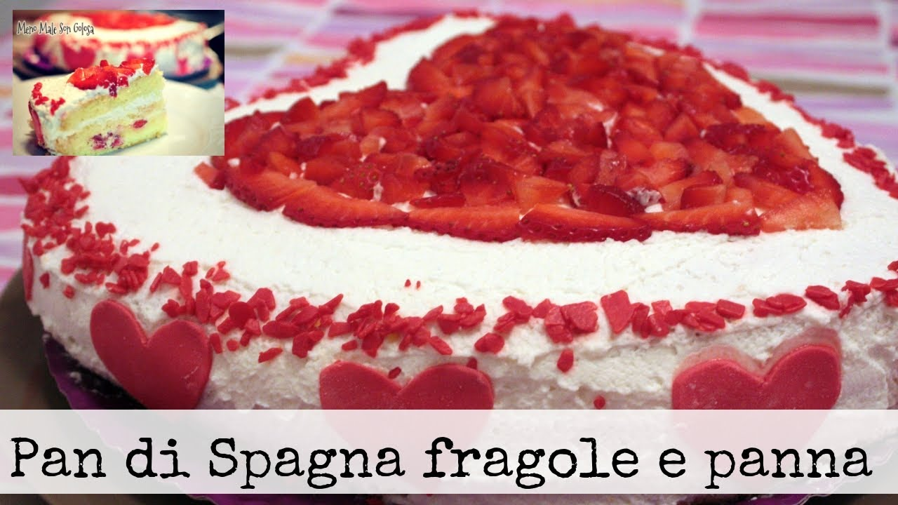 Torta alle fragole con panna crema e yogurt youtube for Decorazione di torte con fragole