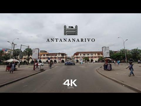 DRIVING DOWNTOWN ANTANANARIVO 🇲🇬 4K⁶⁰