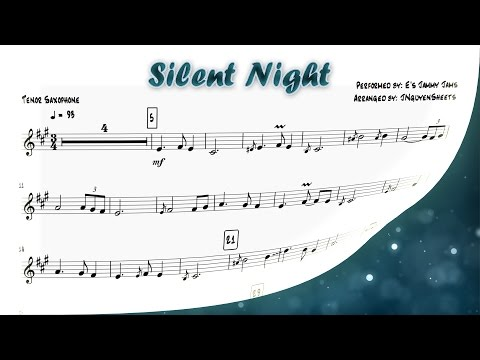 Silent Night (Saxophone Sheet Music)