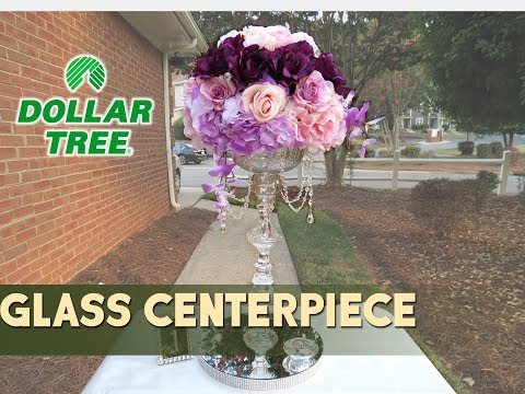 Dollar Tree - DIY Crystal Glass Purple Centerpiece Vase  - $7