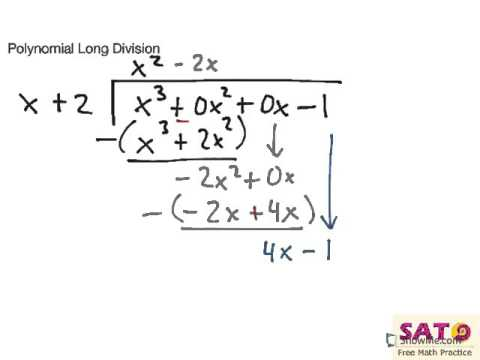 Polynomial Long Division Youtube