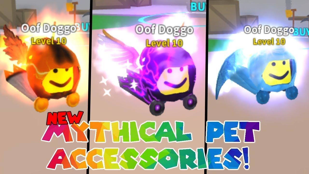 All New Mythical Pet Accessories Mining Simulator Youtube