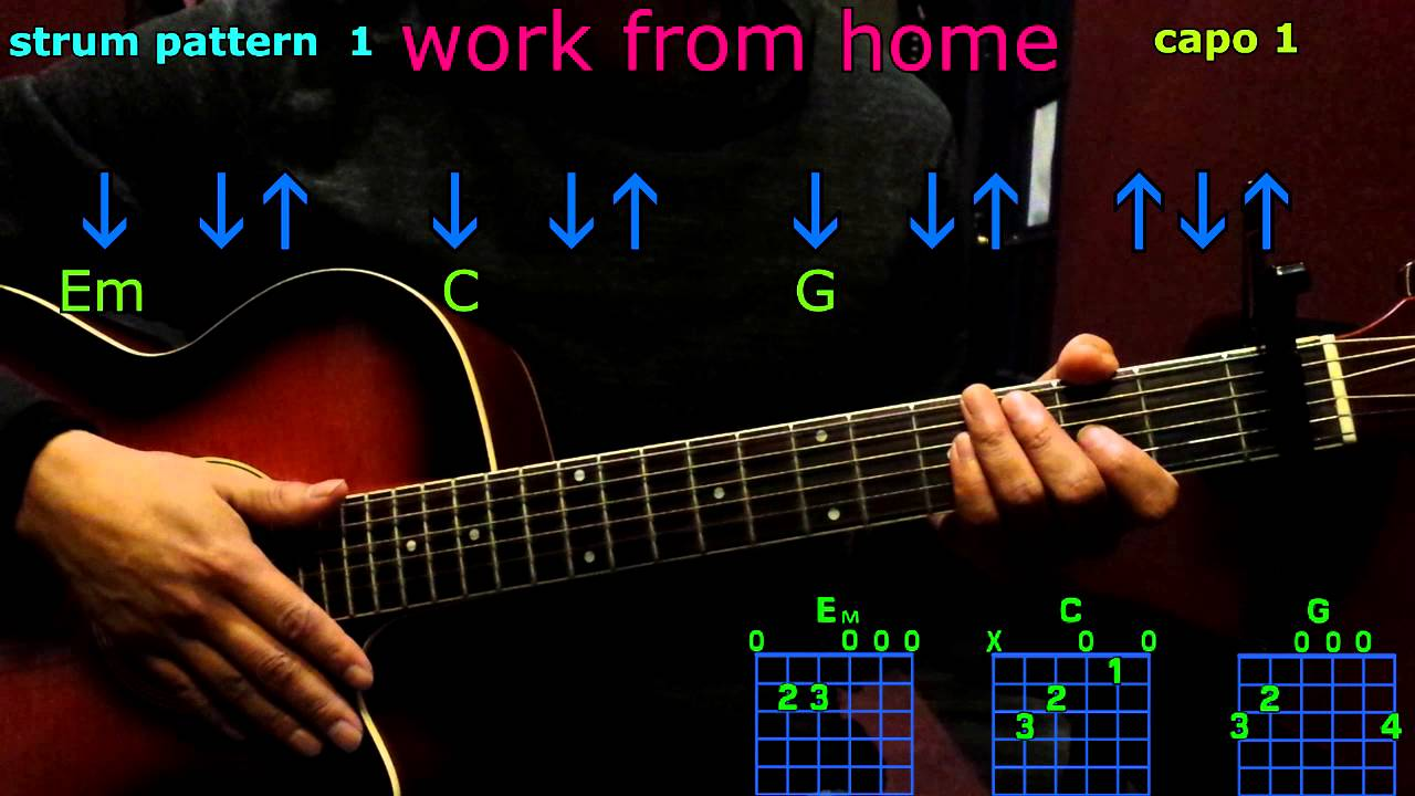 Work From Home Fifth Harmony Guitar Chords Youtube