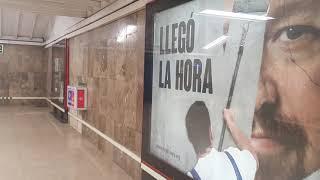 'Llegó la hora' en el metro de Madrid
