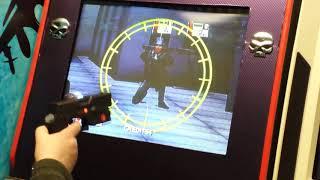 Virtua Cop 2   Light gun game   2nd stg save the mayor  crt arcade
