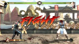 Mortal Kombat Komplete Edition - PC Gameplay - Sub Zero vs Liu Kang, Raiden