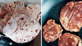 Влог с рецептами! Банановые оладушки на завтрак и индийский хлеб