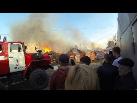 Пожар на 3 северной 1мая в омске
