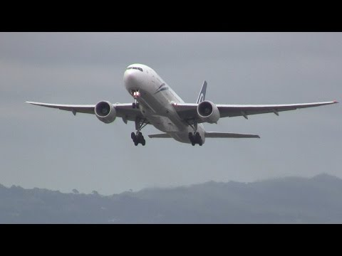 Air New Zealand ► Boeing 777-200 ► Takeoff ✈ Auckland Airport