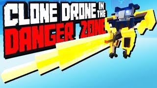 Crazy Greatsword Challenge - Clone Drone in the Danger Zone Gameplay