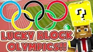 Minecraft LUCKY BLOCK MOD RACE - Minecraft Modded Lucky Block Olympics Round 1