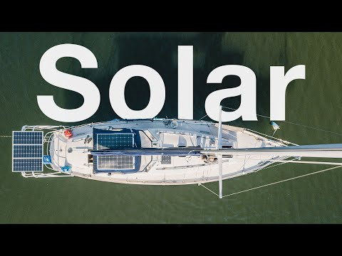 Installing Solar Panels on our Bimini!