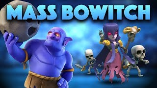 Bowitch Attack strategy with QUEEN-WALK | BEST war strategy | Mass Bowitch | Clash Of Clans