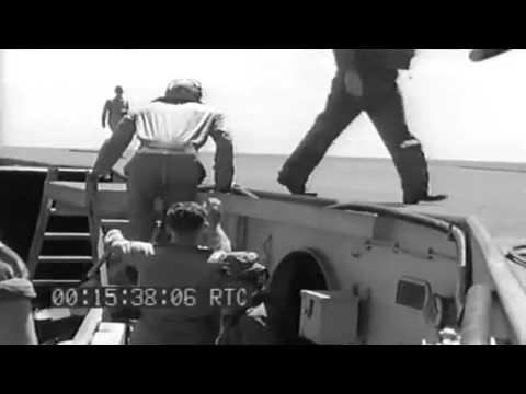 Burial At Sea; Flight Operations Aboard USS San Jacinto; USS Endicott Refuels, 02/28/1944 (full)