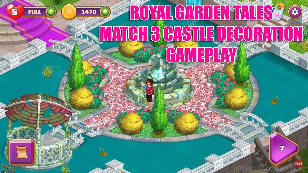 Royal Garden Tales - Match 3 Castle Decoration Gameplay iOS, Android ...