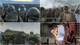 Normandy D-Day - Call of Duty WW2, Call of Duty 2, Medal of Honor Airborne, MoH Allied Assault