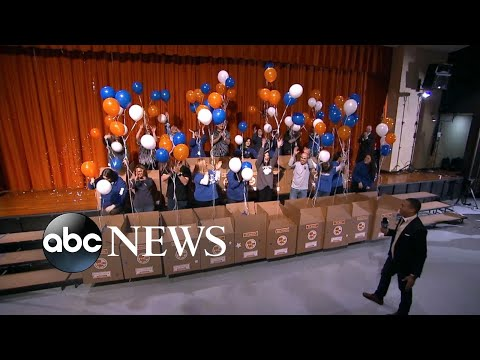 Teachers from an underprivileged school surprised with supplies, funding live on 'GMA'