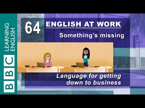Getting down to business - 64 - English at Work gets you working