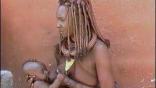 African Himba Women Breastfeeding