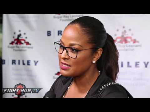 Laila Ali feels Anthony Joshua needs to improve his conditioning;