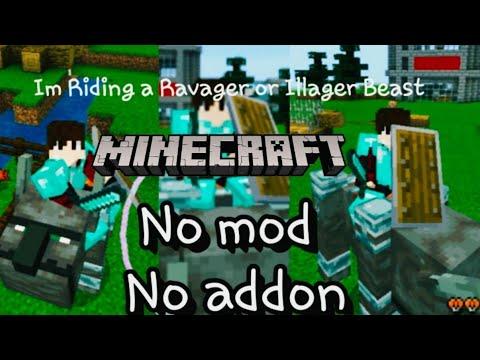 How To Ride Ravager Or Illager Beast No Mod Or Addon