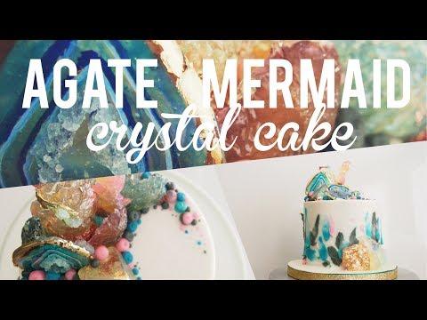 Agate Mermaid Crystal Cake | Satisfying Cake Video | Greggy Soriano