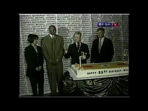 RARE: Special SPORTV Exhibition of Michael Jordan's (Age 36) Second Retirement (1999)