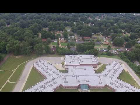 """Drone video of """"B Ready"""" day at Elmore Park Middle School"""