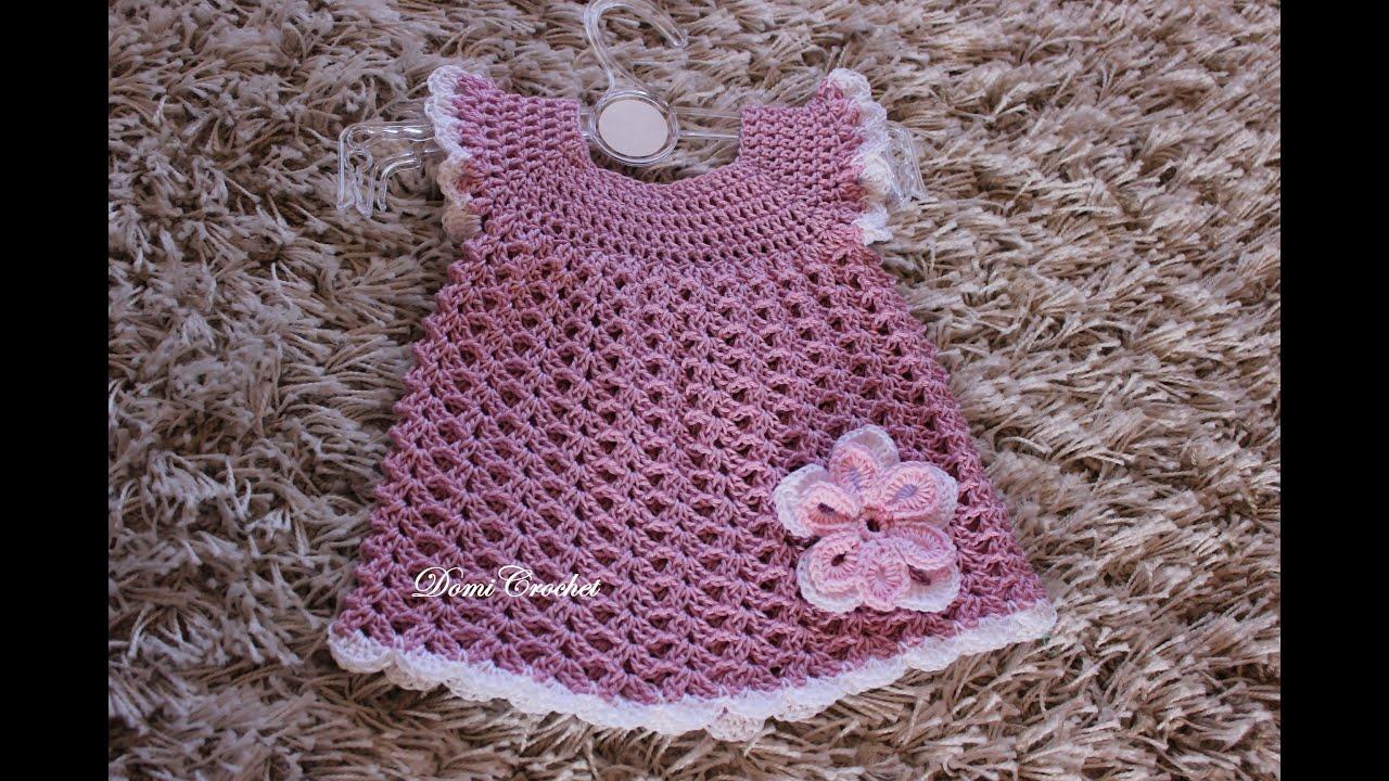 f6dd1e6f444e Háčkované detské šaty - 1.časť - YouTube