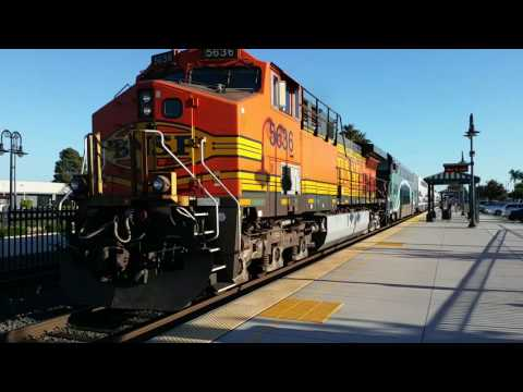 5636 leaving Orange on train 666 from Los Angeles - Oceanside