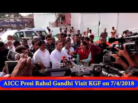 KGF VTV NEWS || Rahul Gandhi visit KGF & Full Speech || Congress Party Road show