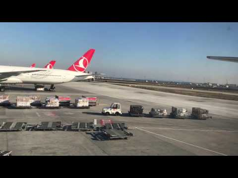 """Turkish Airlines: Boeing 777-300ER Istanbul to New York ECONOMY CLASS """"Full Flight"""""""