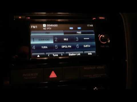 Mitsubishi Outlander. Магнитола с одной крутилкой. Сервисное меню. Разметка камеры заднего вида.