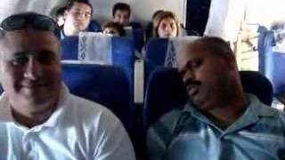 Snoring on the plane