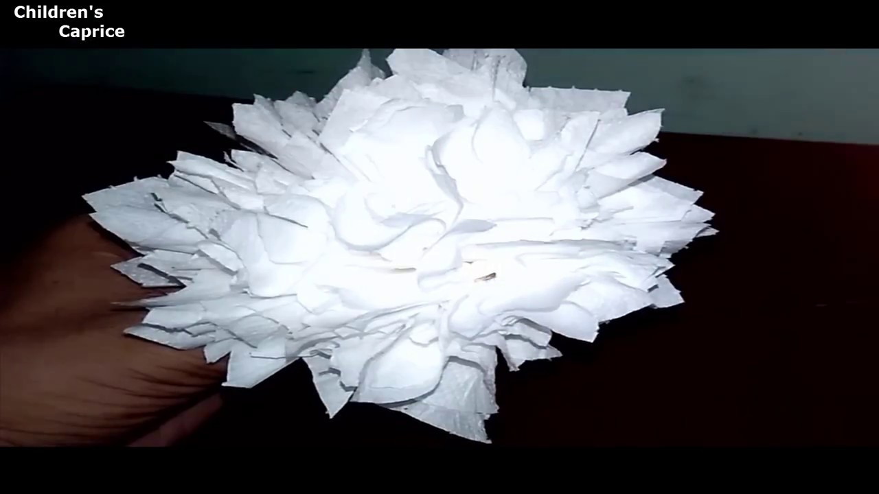 How To Make Toilet Tissue Paper Flowers/Tissue Paper Flower/Easy Toilet  Paper Flower Make