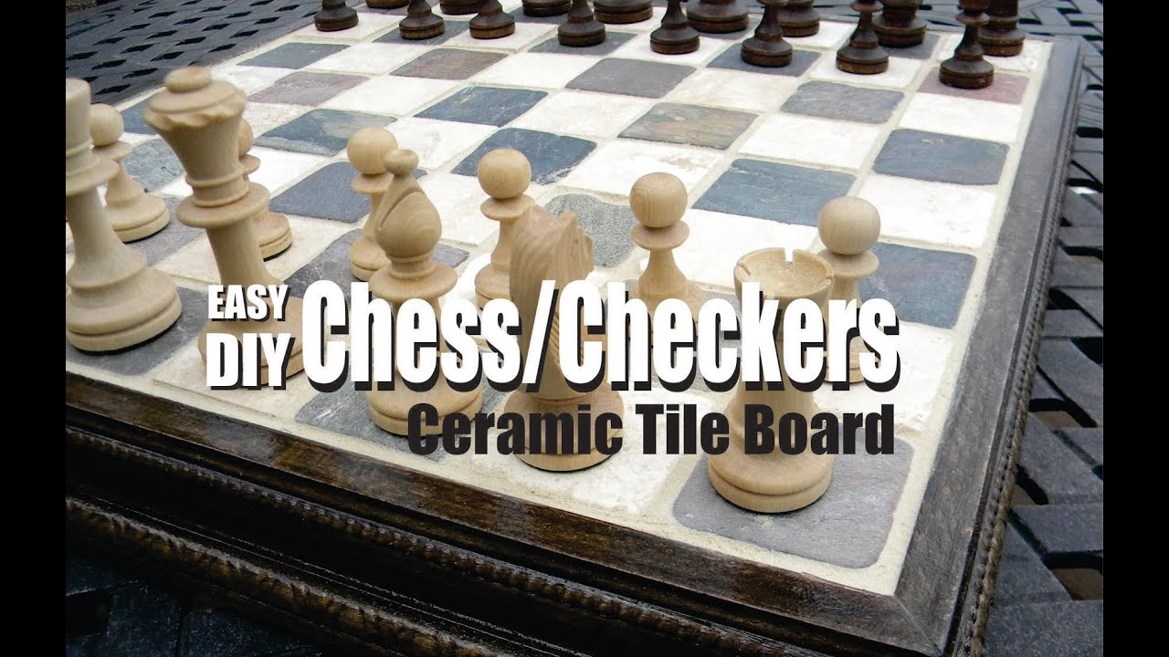 How to make a Ceramic Tile Chess or Checkers Board - YouTube