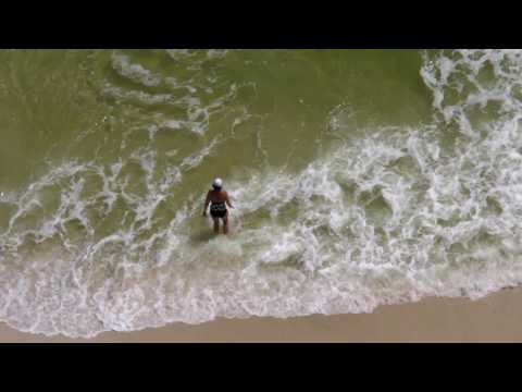 Panama City Beach Florida Women in Ocean Waves in HD
