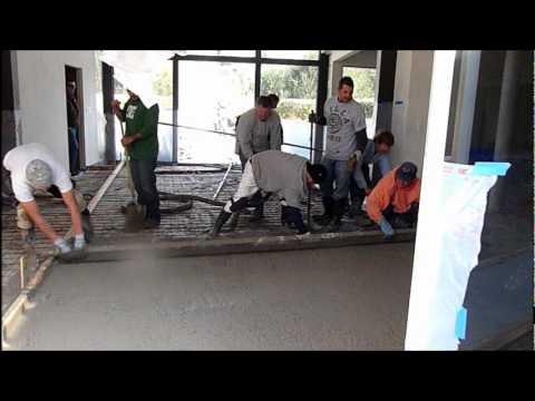 Pouring Indoor Concrete Floors - Remodel