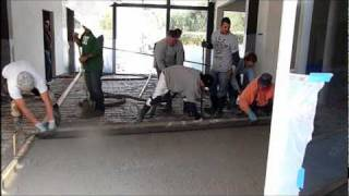 Pouring Indoor Concrete Floors - Remodel