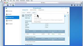 How To Setup A Synology NAS Part 17 Reviewing Storage Manager