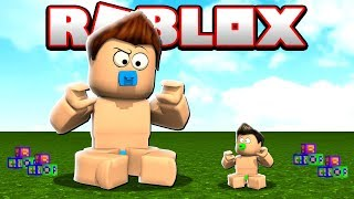 I TURNED A GIANT BABY INTO ROBLOX!!