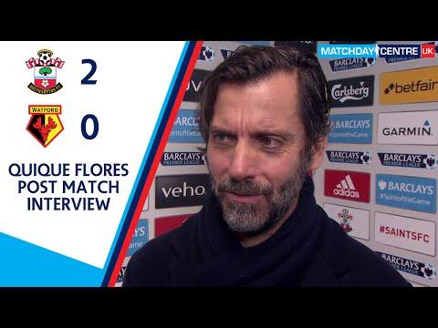 Southampton 2-0 Watford : Quique Flores Interview