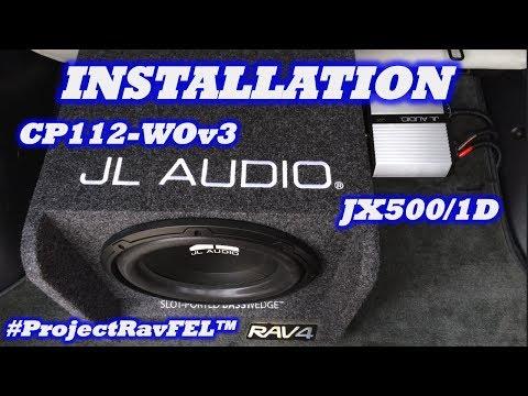 """Installation: JL Audio JX500/1D Amp & 12"""" Sub Enclosure   #ProjectRavFEL™"""