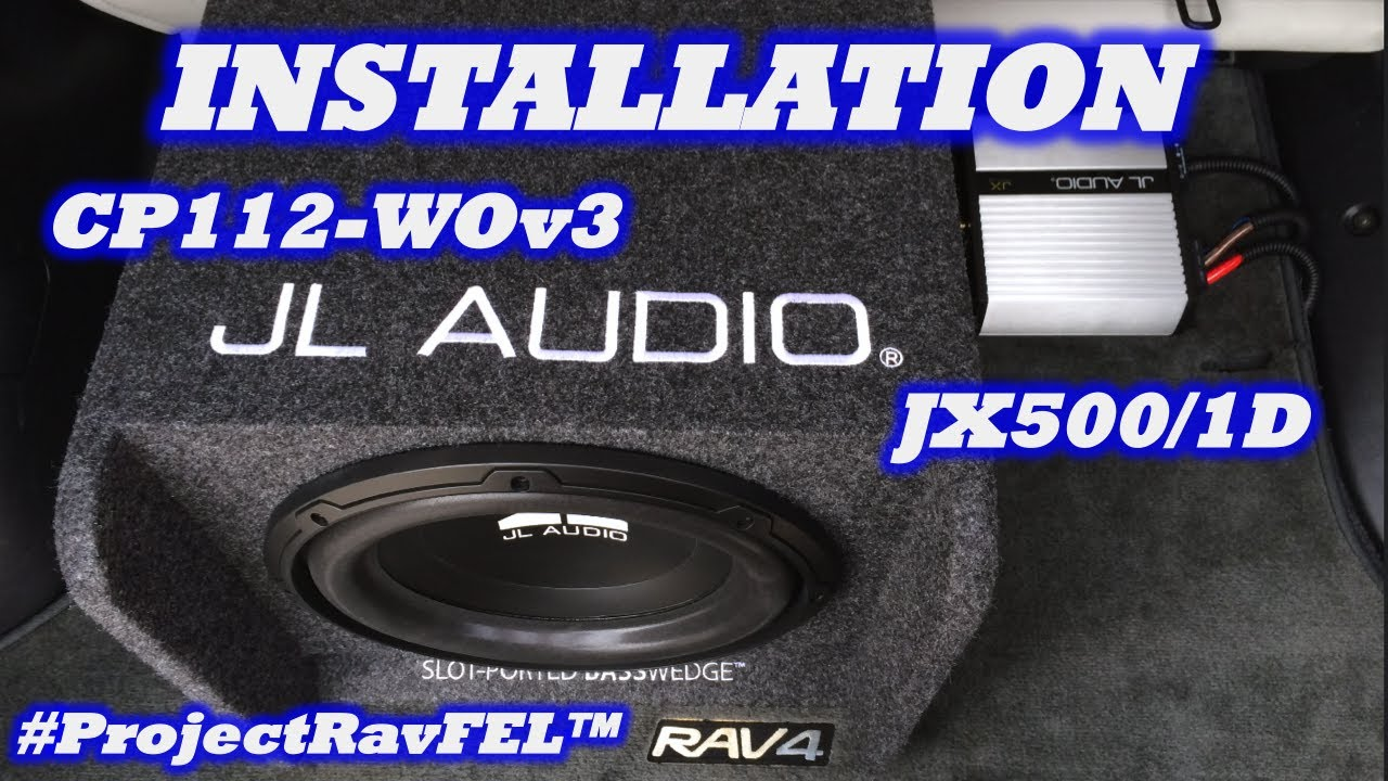 small resolution of installation jl audio jx500 1d amp 12 sub enclosure projectravfel youtube