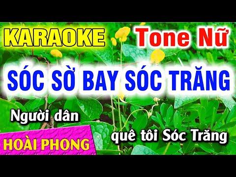 Sóc Sờ Bai Sóc Trăng Karaoke Tone Nữ Nhạc Sống Mới Nhất  Hoài Phong Organ