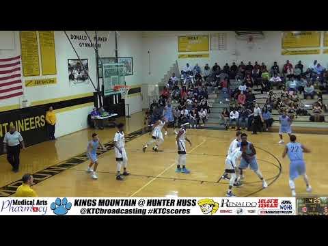 Kings Mountain wins 86-72 vs Hunter Huss - 2017/18 basketball