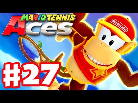 Mario Tennis Aces - Gameplay Walkthrough Part 27 - Diddy Kong! Online Tournament! (Nintendo Switch)