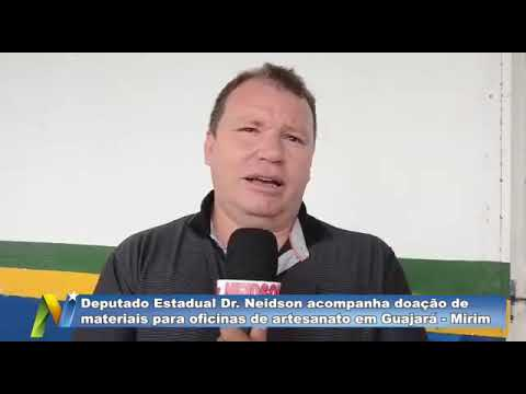 Dr. Neidson acompanha doação de materiais para oficinas de artesanato em Guajará-Mirim