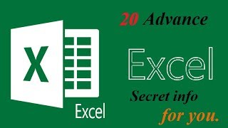 Secret excel tips and trick you don't know