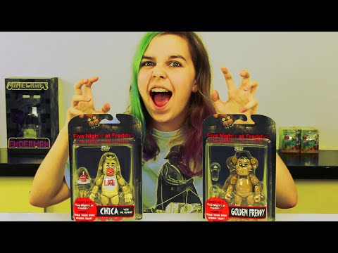 FIVE NIGHTS AT FREDDY'S | FNAF FUNKO CHICA & GOLDEN FREDDY TOY REVIEW